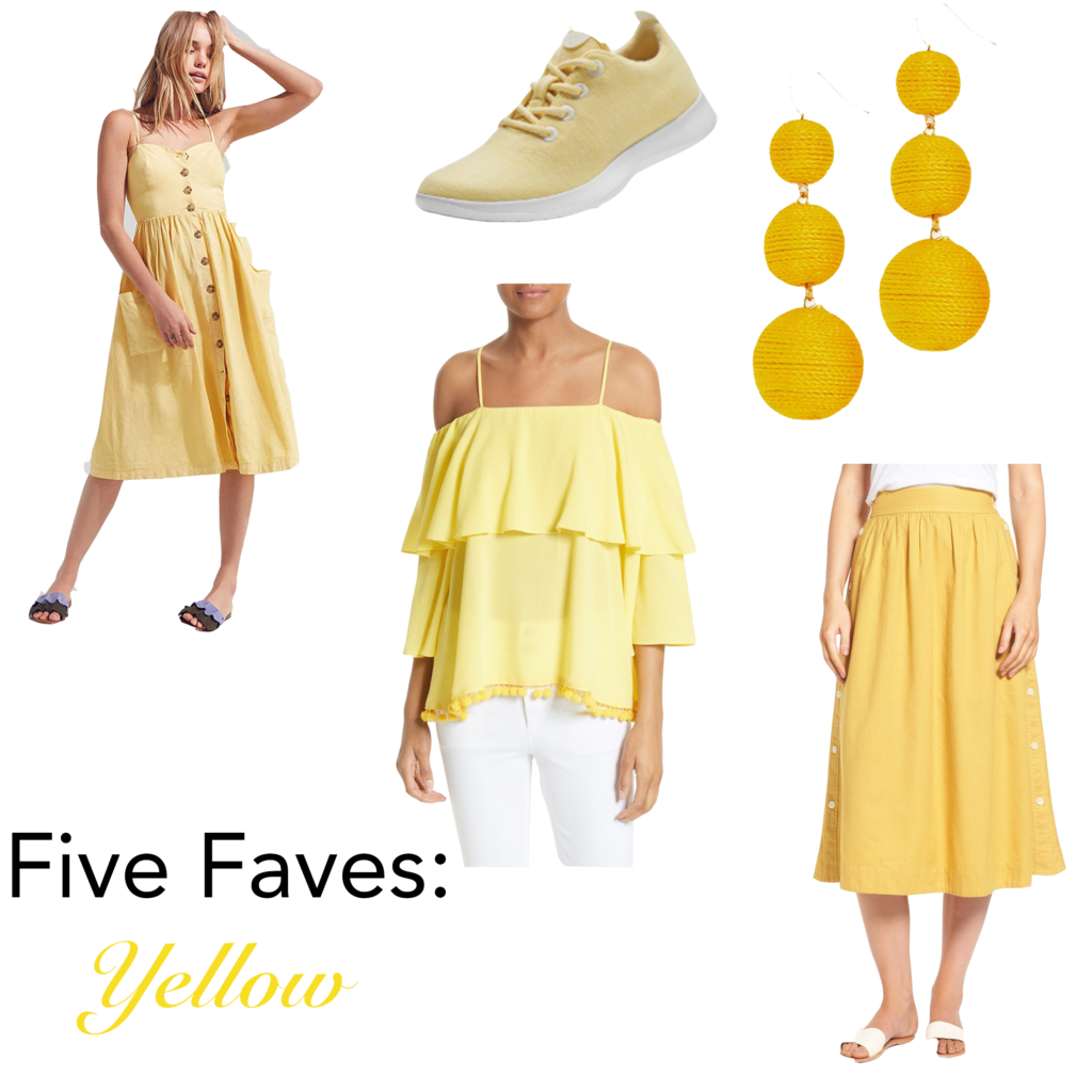 Five Faves~ Yellow
